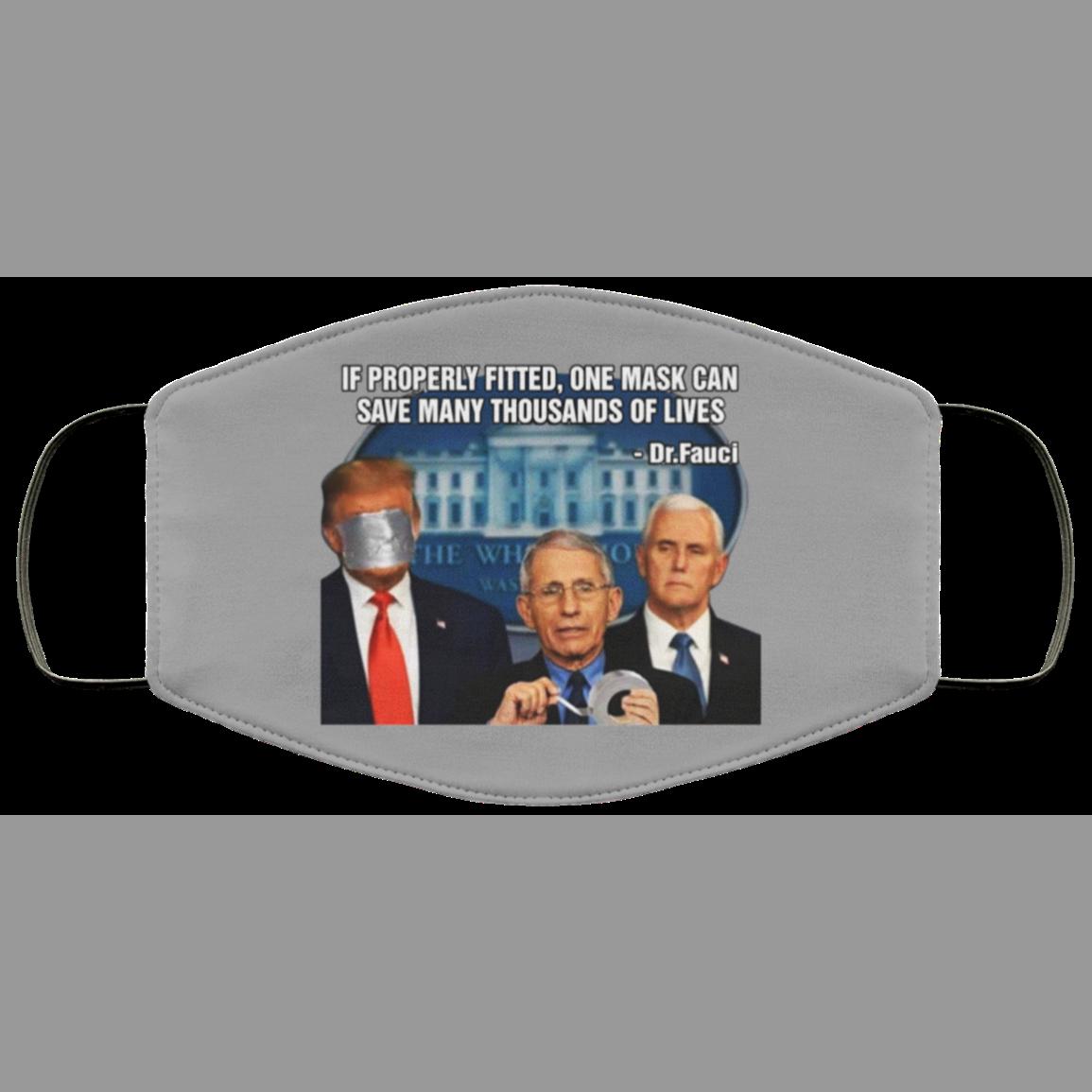 Fauci Trump Duct Tape Face Mask