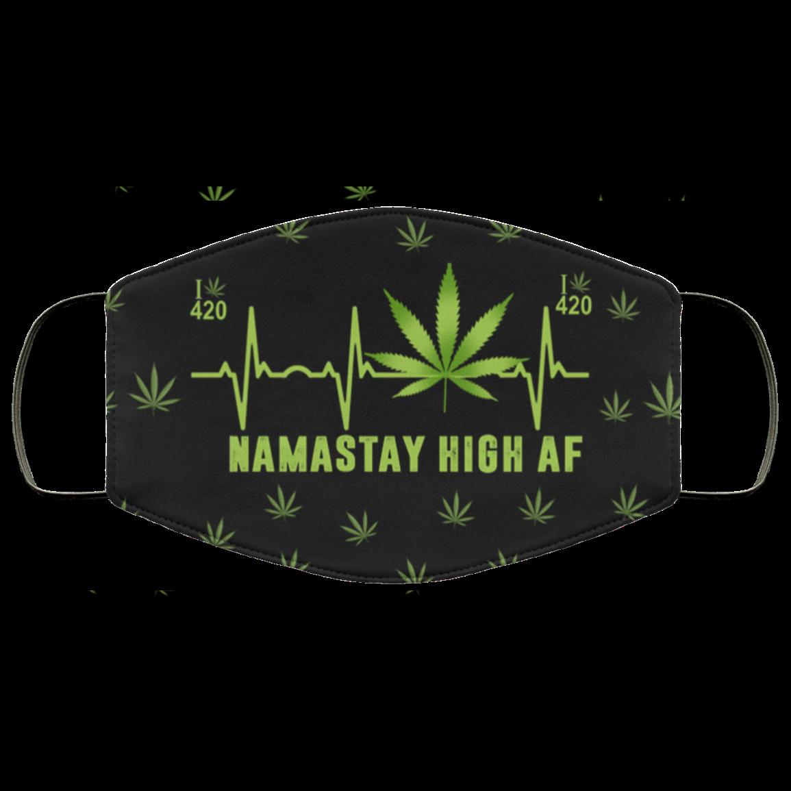Namastay High AF 420 Cannabis Face Mask